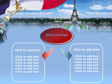 France PowerPoint Template, Slide 4, 00258, Flags/International — PoweredTemplate.com