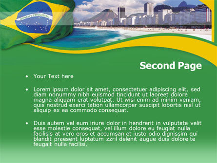 Brazil PowerPoint Template, Slide 2, 00259, Flags/International — PoweredTemplate.com