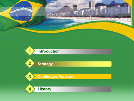 Brazil PowerPoint Template, Slide 3, 00259, Flags/International — PoweredTemplate.com