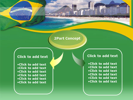 Brazil PowerPoint Template, Slide 4, 00259, Flags/International — PoweredTemplate.com
