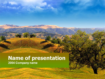 Landscape Hills PowerPoint Template, 00260, Nature & Environment — PoweredTemplate.com