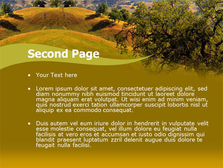 Landscape Hills PowerPoint Template, Slide 2, 00260, Nature & Environment — PoweredTemplate.com
