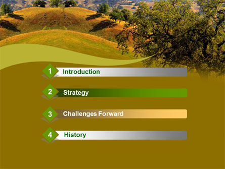 Landscape Hills PowerPoint Template, Slide 3, 00260, Nature & Environment — PoweredTemplate.com
