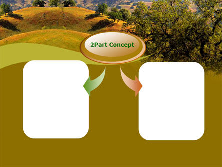 Landscape Hills PowerPoint Template, Slide 4, 00260, Nature & Environment — PoweredTemplate.com