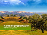 Nature & Environment: Landscape Hills PowerPoint Template #00260