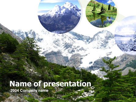 Abstract/Textures: Mountains PowerPoint Template #00261