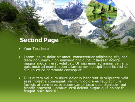 Mountains PowerPoint Template, Slide 2, 00261, Abstract/Textures — PoweredTemplate.com