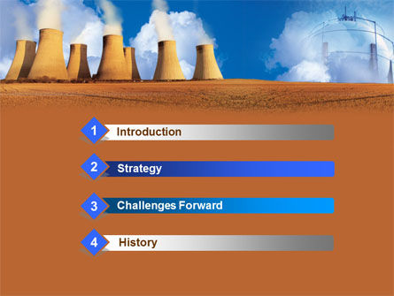 Thermoelectric Power Station PowerPoint Template Slide 3