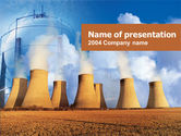 Careers/Industry: Thermoelectric Power Station PowerPoint Template #00262