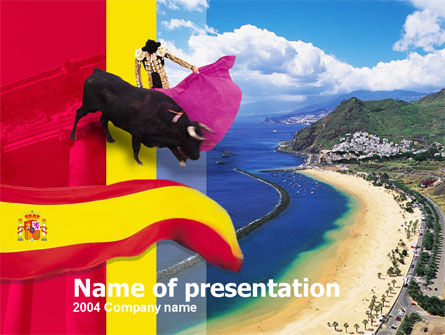 Spain PowerPoint Template, 00263, Flags/International — PoweredTemplate.com