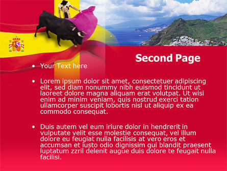 Spain PowerPoint Template, Slide 2, 00263, Flags/International — PoweredTemplate.com