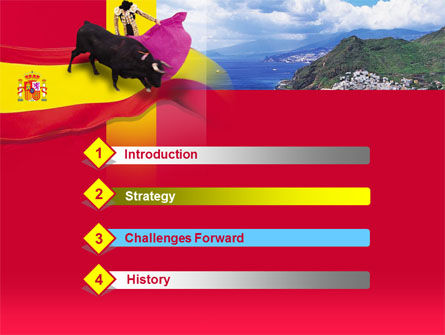 Spain PowerPoint Template, Slide 3, 00263, Flags/International — PoweredTemplate.com
