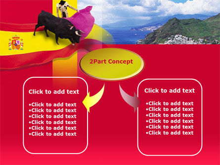 Spain PowerPoint Template, Slide 4, 00263, Flags/International — PoweredTemplate.com