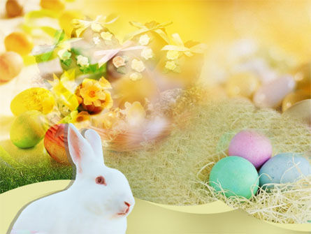 Easter Bunny PowerPoint Template, 00264, Holiday/Special Occasion — PoweredTemplate.com
