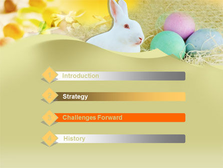 Easter Bunny PowerPoint Template, Slide 3, 00264, Holiday/Special Occasion — PoweredTemplate.com