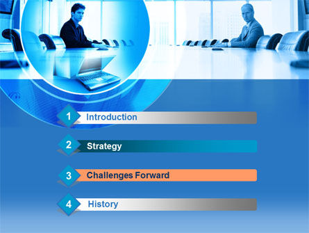 Business Negotiation In Aqua Colors PowerPoint Template, Slide 3, 00267, Business Concepts — PoweredTemplate.com