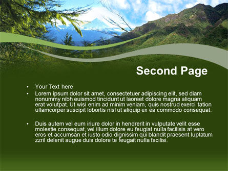 Mountain Valley PowerPoint Template Slide 2