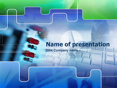 Computer Hardware PowerPoint Template, 00270, Technology and Science — PoweredTemplate.com