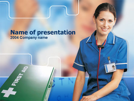 Nurse Leader PowerPoint Template, 00271, Medical — PoweredTemplate.com