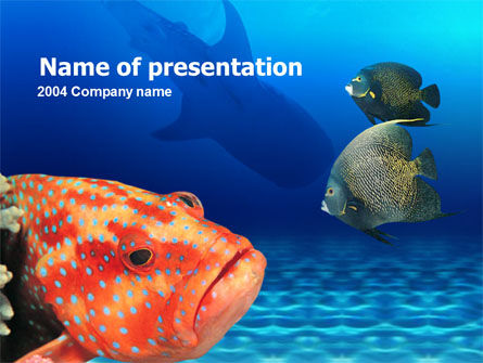 Nature & Environment: Fish In Aquarium PowerPoint Template #00273