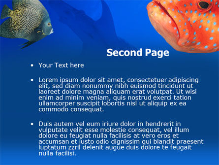 Fish In Aquarium PowerPoint Template Slide 2