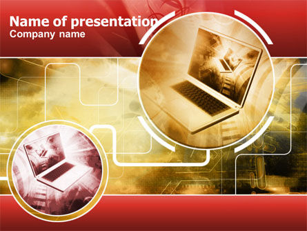 Direct Connection PowerPoint Template, 00274, Computers — PoweredTemplate.com