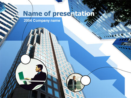 Office Skyscraper PowerPoint Template, 00275, Business — PoweredTemplate.com