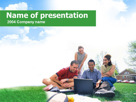 Students Life PowerPoint Template, 00276, Education & Training — PoweredTemplate.com