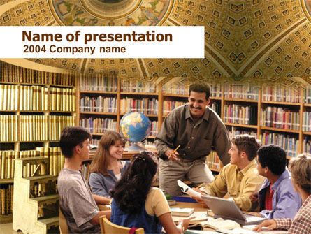 Seminar PowerPoint Template, 00278, Education & Training — PoweredTemplate.com