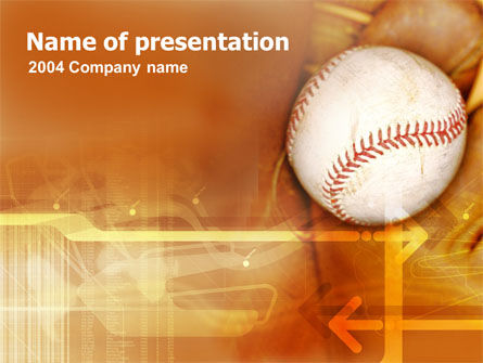 Baseball Ball Powerpoint Template Backgrounds