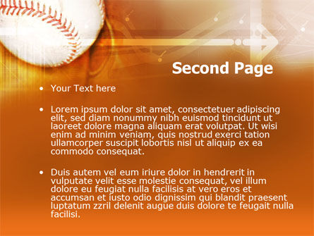 Baseball Ball PowerPoint Template, Slide 2, 00280, Sports — PoweredTemplate.com
