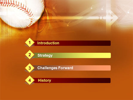 Baseball Ball PowerPoint Template, Slide 3, 00280, Sports — PoweredTemplate.com
