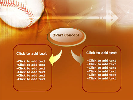 Baseball Ball PowerPoint Template, Slide 4, 00280, Sports — PoweredTemplate.com
