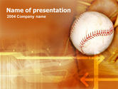Sports: Baseball Ball PowerPoint Template #00280