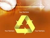 Baseball Ball PowerPoint Template#10