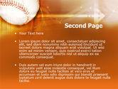 Baseball Ball PowerPoint Template#2