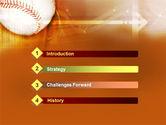 Baseball Ball PowerPoint Template#3