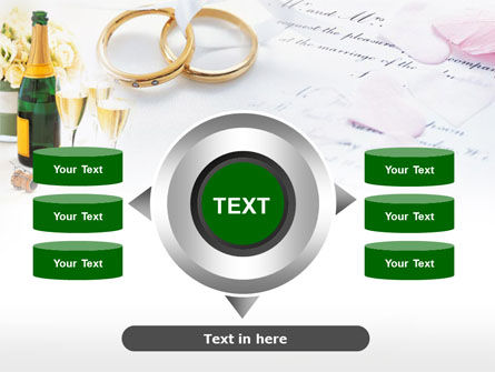 Wedding Rings And Champagne PowerPoint Template Slide 12