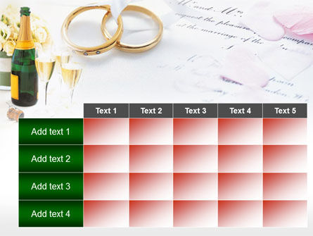 Wedding Rings And Champagne PowerPoint Template Slide 15