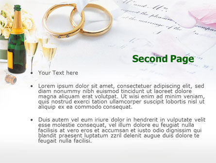 Wedding Rings And Champagne PowerPoint Template Slide 2