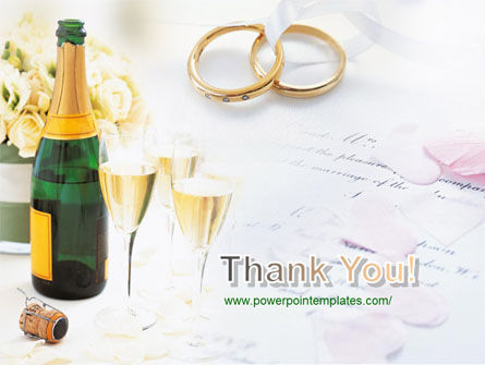 Wedding Rings And Champagne PowerPoint Template Slide 20