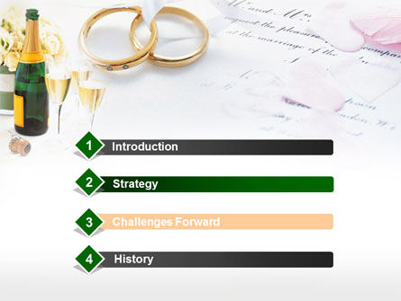 Wedding Rings And Champagne PowerPoint Template Slide 3