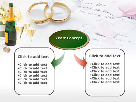 Wedding Rings And Champagne PowerPoint Template Slide 4