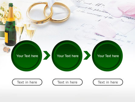 Wedding Rings And Champagne PowerPoint Template Slide 5