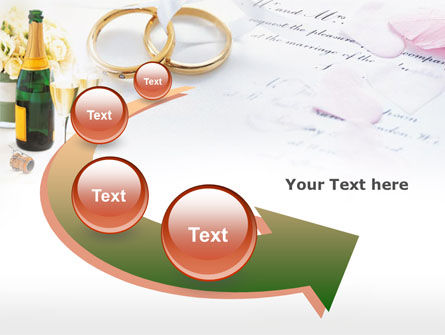 Wedding Rings And Champagne PowerPoint Template Slide 6