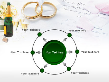 Wedding Rings And Champagne PowerPoint Template Slide 7