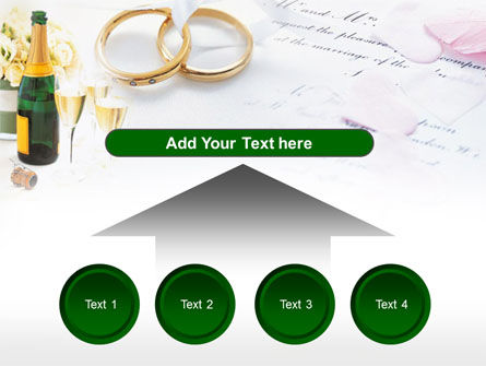 Wedding Rings And Champagne PowerPoint Template Slide 8