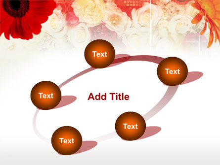 Red Flowers PowerPoint Template Slide 14
