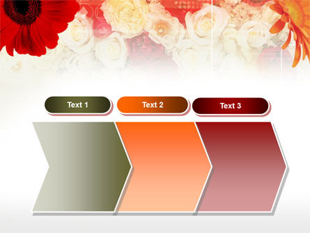 Red Flowers PowerPoint Template Slide 16