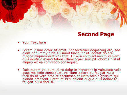 Red Flowers PowerPoint Template Slide 2